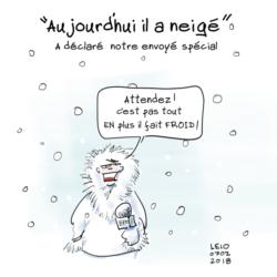 neige hiver météo infos dessin humour