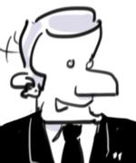 Caricature Macron Profil