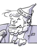 Caricature Donald Trump