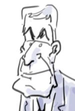 Caricature Jérôme Cahuzac