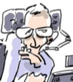 Caricature Stephen Hawking